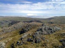 Looking along Rosthwaite Cam ridge to Langstrath way Royalty Free Stock Photo