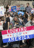 Looking For America At a Bernie Sanders Rally Royalty Free Stock Photography