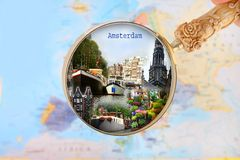Looking in on Amsterdam, Holland Royalty Free Stock Photography