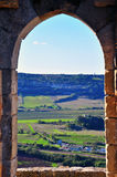 Looking through the ancient window Royalty Free Stock Photo