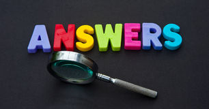 Looking for answers royalty free stock image
