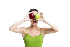 Looking apples Stock Photography