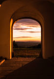 Looking Through Archway at Sunrise Solitude Palace Stuttgart Germany Stock Photography