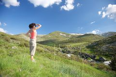 Looking At Far Mountains Royalty Free Stock Photo