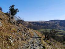 Looking back to borrowdale, Lake District, England Royalty Free Stock Photo
