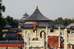 Looking back towards the Temple of Heaven Royalty Free Stock Photos