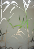 Looking through bamboo pattern on window Royalty Free Stock Image