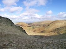 Looking into Bannerdale valley, Lake District Stock Photo