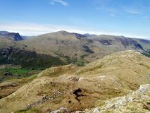 Looking from Bessyboot on Rosthwaite Fell Royalty Free Stock Photos