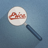 Looking for the best prices. Concept. Flat design illustration Royalty Free Stock Images