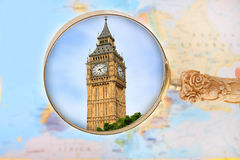 Looking in on Big Ben, London England Stock Photos