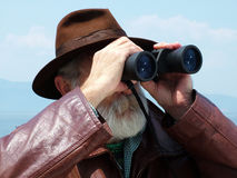 Looking binoculars Royalty Free Stock Photos