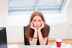 Looking really bored Stock Photography