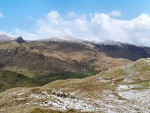 Looking from Borrowdale Fells Royalty Free Stock Photography
