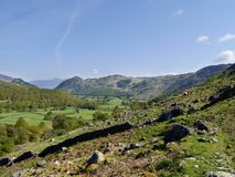 Looking into Borrowdale valley, Lake District Stock Images