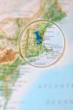 Looking in on Boston Massachusetts Stock Image