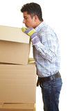 Looking in boxes Royalty Free Stock Images
