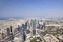 Looking from the Burj Halifa - the highest buildin Royalty Free Stock Photos