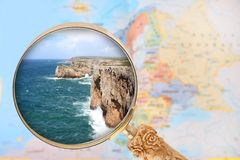 Looking in on Cabo de Sao Vicente, Portugal Stock Image