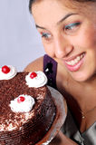 Looking at cake Royalty Free Stock Photography