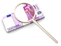 Looking for capital - Euros Royalty Free Stock Photos