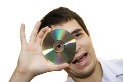 Looking at the cd II. Stock Photo