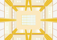 Looking at the ceiling foyer of the building Royalty Free Stock Photography
