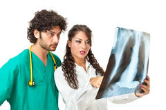 Looking at a chest radiography Royalty Free Stock Photos