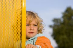 The looking child Stock Images