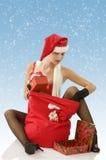 Looking christmas beg Stock Image