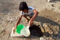 Looking for clean water Stock Photo