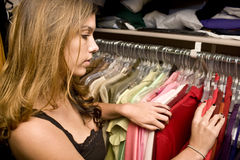 Looking through closet Royalty Free Stock Image