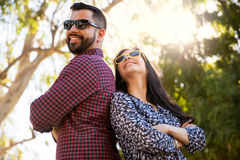 Looking cool with sunglasses Royalty Free Stock Photo