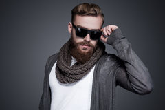 Looking cool and trendy. Stock Photo