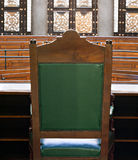 Looking into courtroom Royalty Free Stock Photos