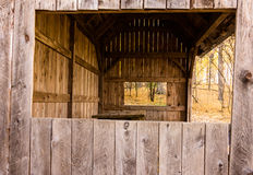 Looking through covered shelter Stock Image
