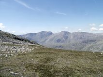 Looking from Crinkle Crags to the Scafells, Lake District Stock Photo