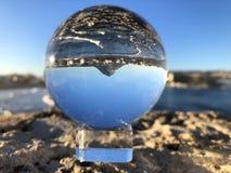 Creative photography, crystal ball refraction. stock photography