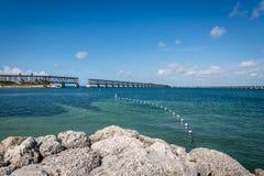 The shore of Bahia Honda State Beach stock photo