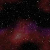 Looking into deep space. Dark night sky full of stars. Royalty Free Stock Photos