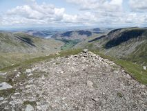Looking from Dollywagon Pike summit, Lake District Royalty Free Stock Photos