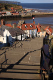 Looking down the 199 steps at Whitby Stock Images