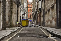 Free Looking Down A Long Dark Back Alley Stock Photos - 7253423