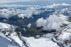 Above the clouds in the Swiss Jungfrau region Stock Photo