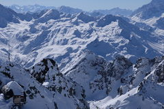 Looking down on the Alps. Royalty Free Stock Photography