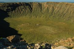 The Southern Rim of Meteor Crater Royalty Free Stock Photo