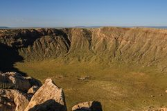 The Southern Rim of Meteor Crater Royalty Free Stock Photography