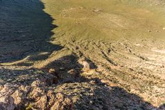 The Southern Rim of Meteor Crater Stock Photography