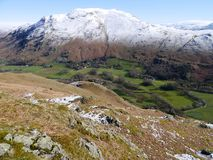 Looking down from Arnison Crag in early spring Royalty Free Stock Photography
