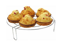 Looking Down at Baked Rasperry Muffins Royalty Free Stock Photography